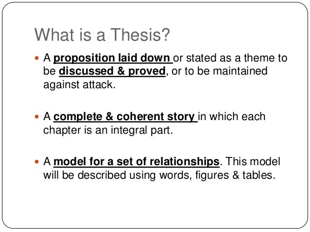 Thesis statement for prop 8