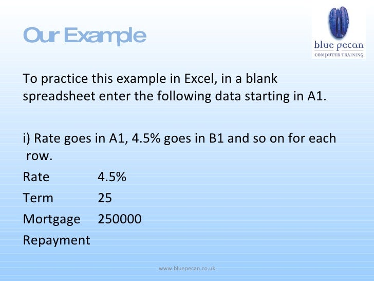 excel formula for mortgage payment