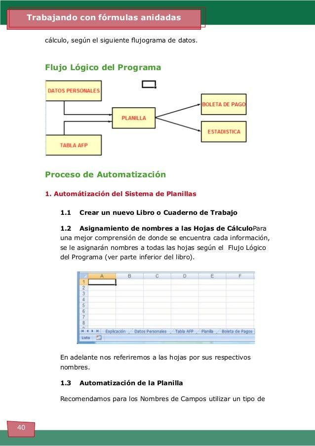 Excel para 3ro. funciones anidadas