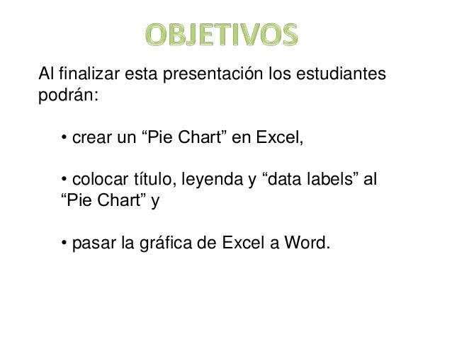 Excel pie chart Slide 2