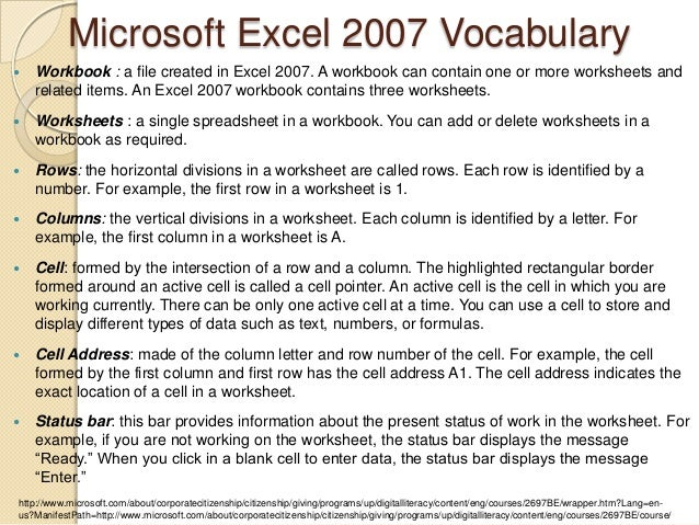 Excel ppt – An Excel File That Contains One or More Worksheets