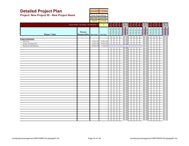 Excel Project Management - Marketing plan timeline template excel