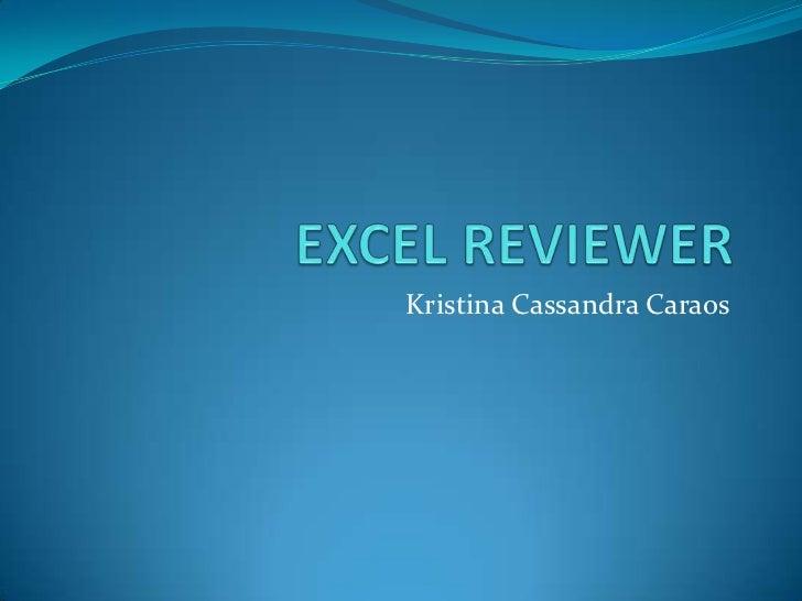 Kristina Cassandra Caraos