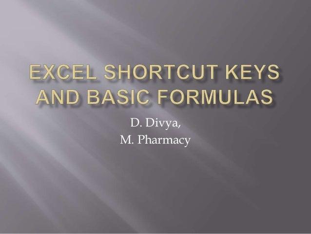D. Divya, M. Pharmacy