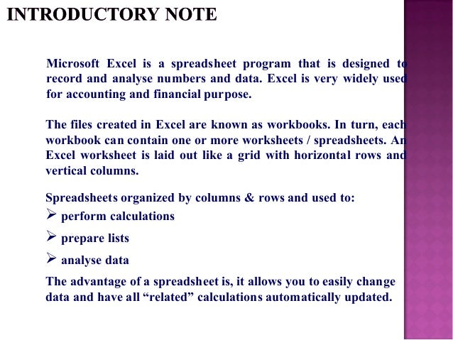 Excel tips – An Excel File That Contains One or More Worksheets