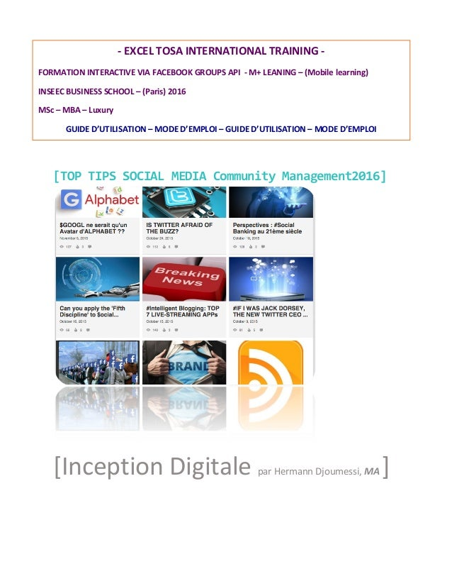 [TOP	   TIPS	   SOCIAL	   MEDIA	   Community	   Management2016]	    	    [Inception	   Digitale	   par	   Herm...