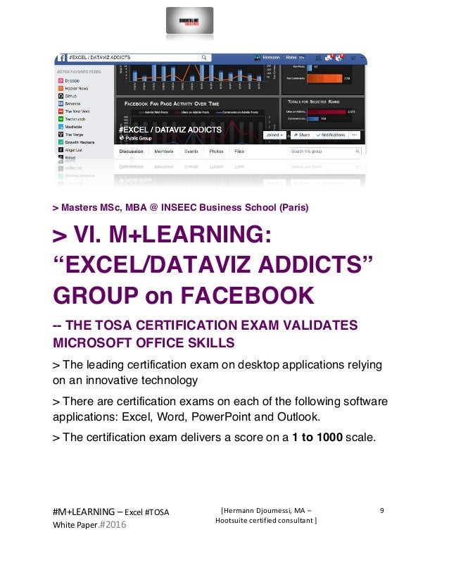 #M+LEARNING  –  Excel  #TOSA       White  Paper.#2016   [Hermann  Djoumessi,  MA  –   Hootsuite...