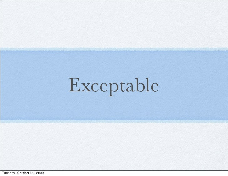 Exceptable - Exception Propagation for PG