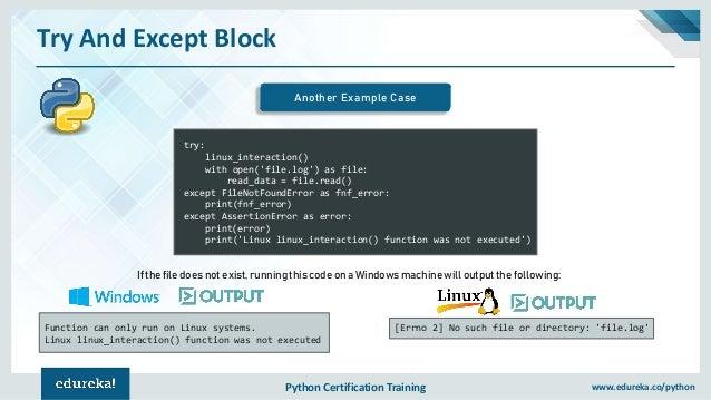Exception Handling In Python | Exceptions In Python | Python Programm…