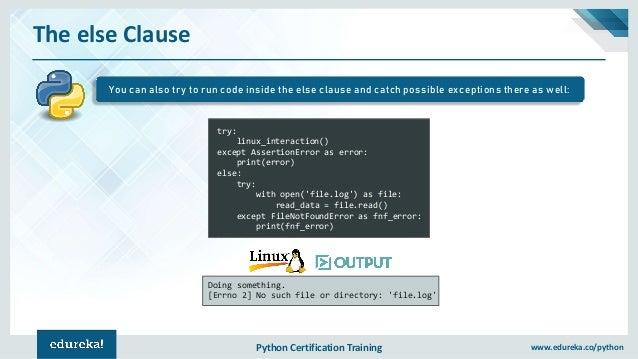 Exception Handling In Python | Exceptions In Python | Python