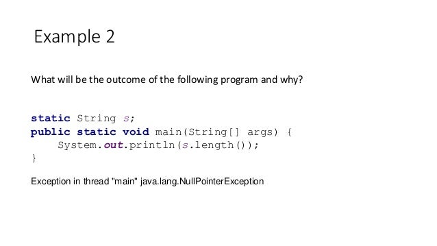 how to solve exception in thread main java lang nullpointerexception