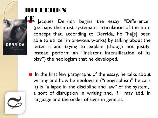 jacque derrida essays