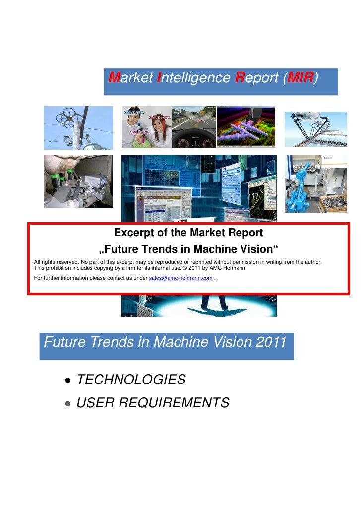 "Market Intelligence Report (MIR)                             Excerpt of the Market Report                           ""Futur..."