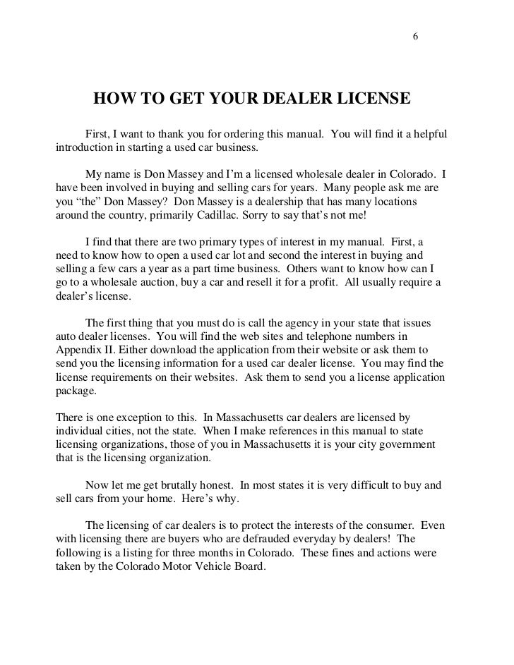 How To Get A Retail Car Dealer License In California