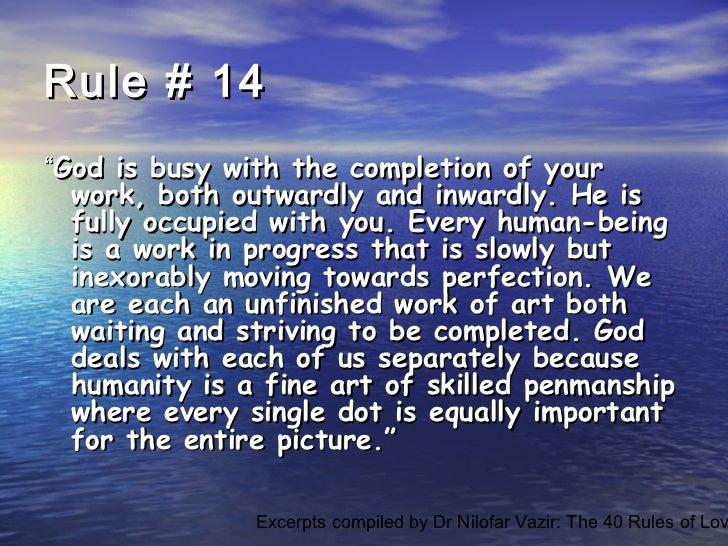 Excerpts dr nilofar vazir forty rules of love. elif shafak. ppt