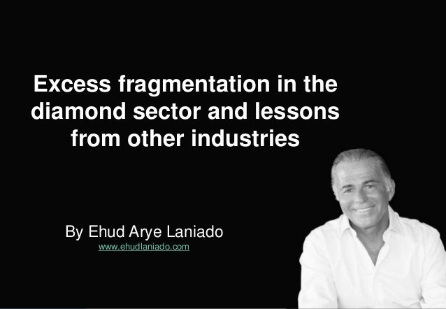 By Ehud Arye Laniado www.ehudlaniado.com Excess fragmentation in the diamond sector and lessons from other industries