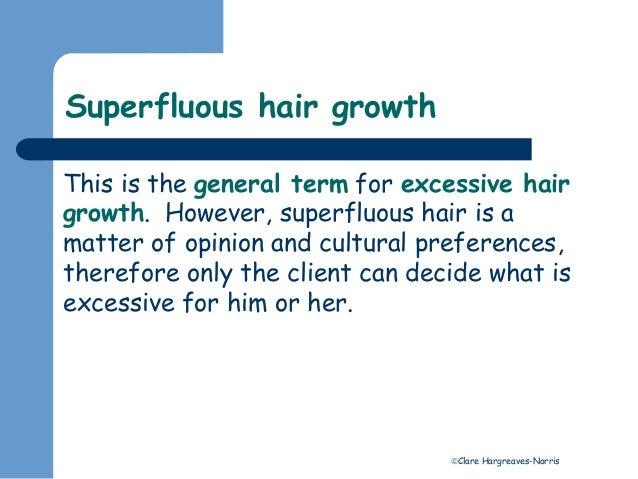 Excess hair growth Slide 3