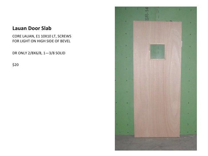 Lauan Door ...