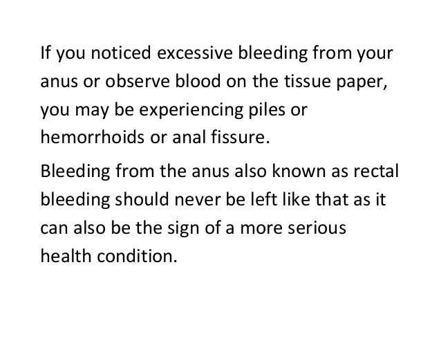 Causes for bleeding from your anus