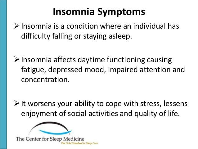 insomnia causes symptoms and treatment 4 other health concern: if your teen's doctor feels that the insomnia is being caused due to some other health issue, he may first treat the main cause and then the sleep issues.