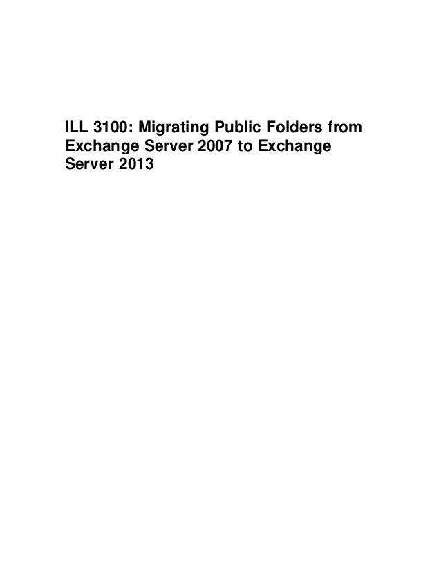 Exchange 2013: Public Folder migration made easy
