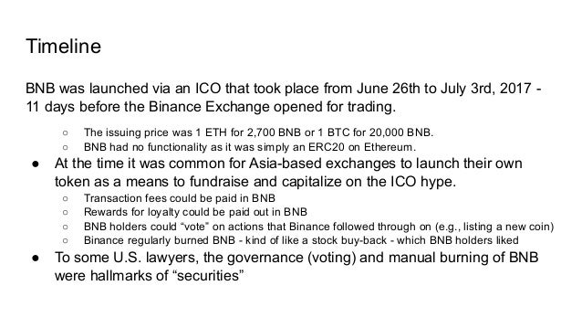 Cont'd April 27, 2020: Binance Smart Chain (BSC) was publicly announced ● Forked Geth, kept EVM compatibility and removed ...