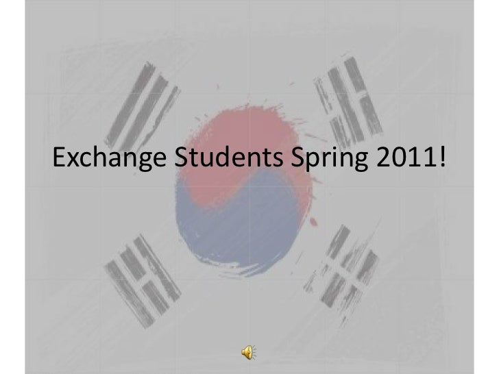 Exchange Students Spring 2011!<br />