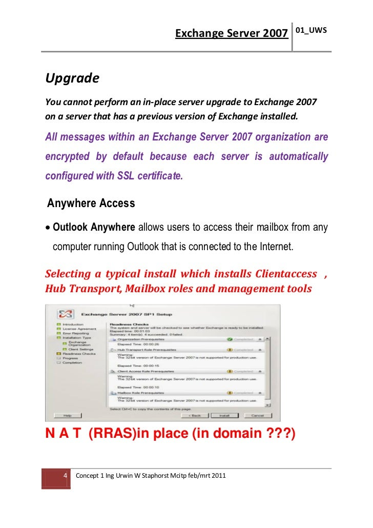 Microsoft Exchange Server 2007 Deployment