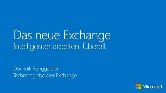 das neue exchange 2013