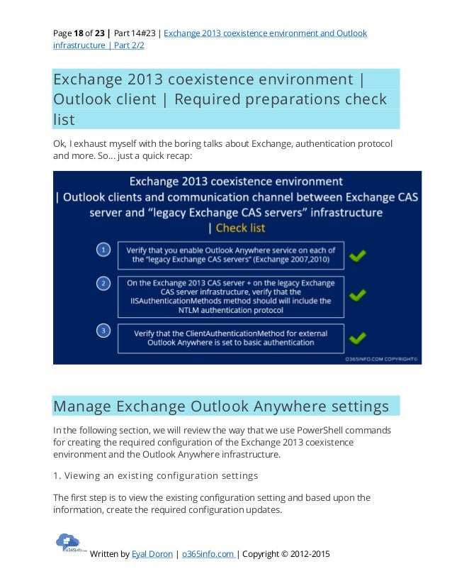 Exchange 2013 coexistence and Outlook infrastructure   Part