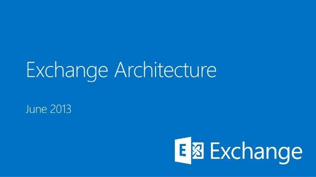 Microsoft Exchange 2013 architecture
