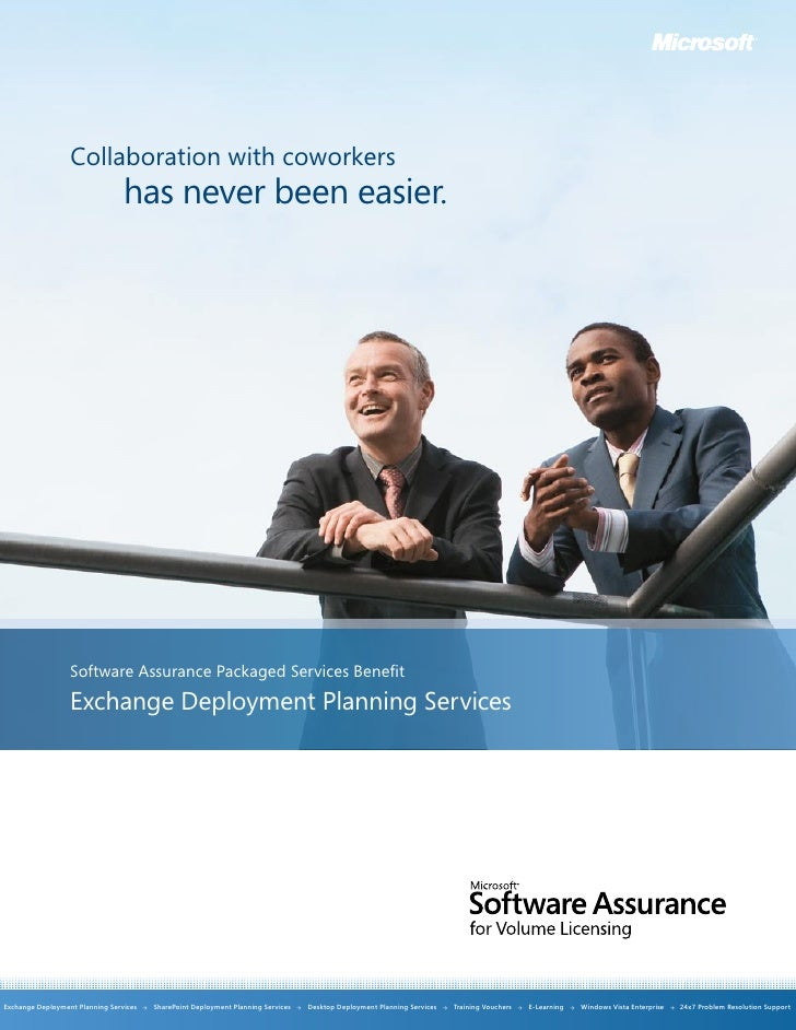 Collaboration with coworkers                                  has never been easier.                       Software Assura...