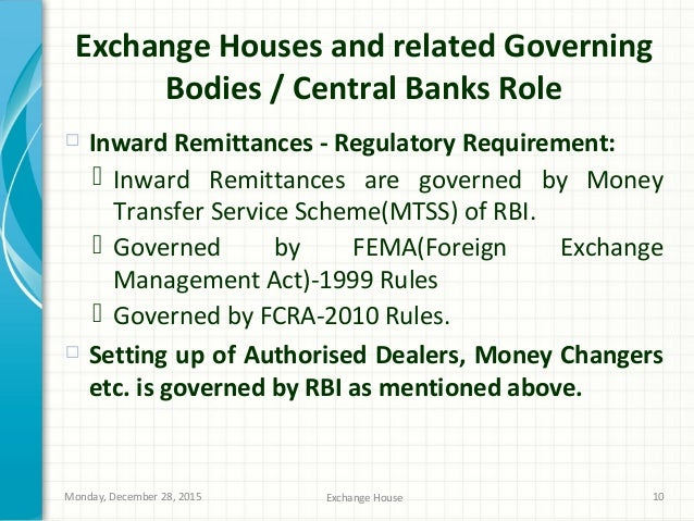 Role of Exchange House