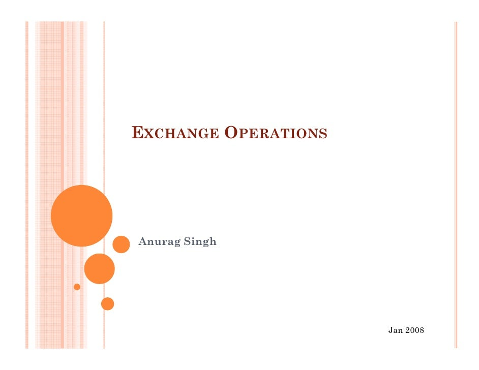 Exchange operations
