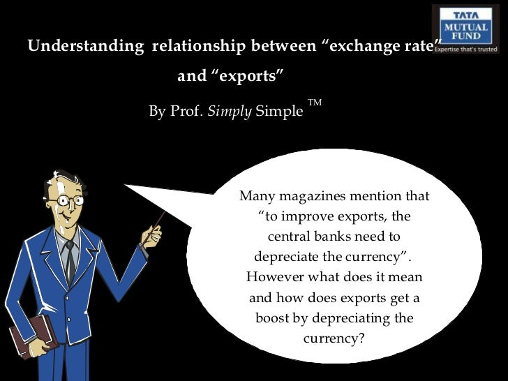 """Understanding  relationship between """"exchange rate"""" and """"exports""""   By Prof.  Simply  Simple  TM Many magazines mention th..."""