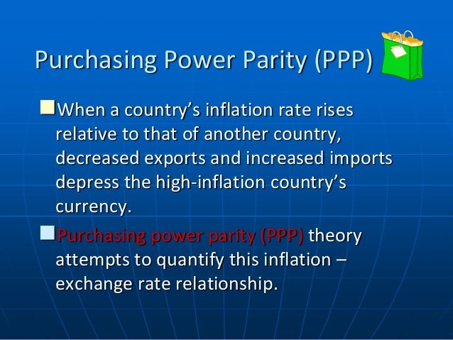 the implications of the ppp theory The article recognizes the difference between real and absolute purchasing power parity, survey-related literature, and carries out econometric analysis of the ppp theory argument we use the data of the us dollar and japanese.