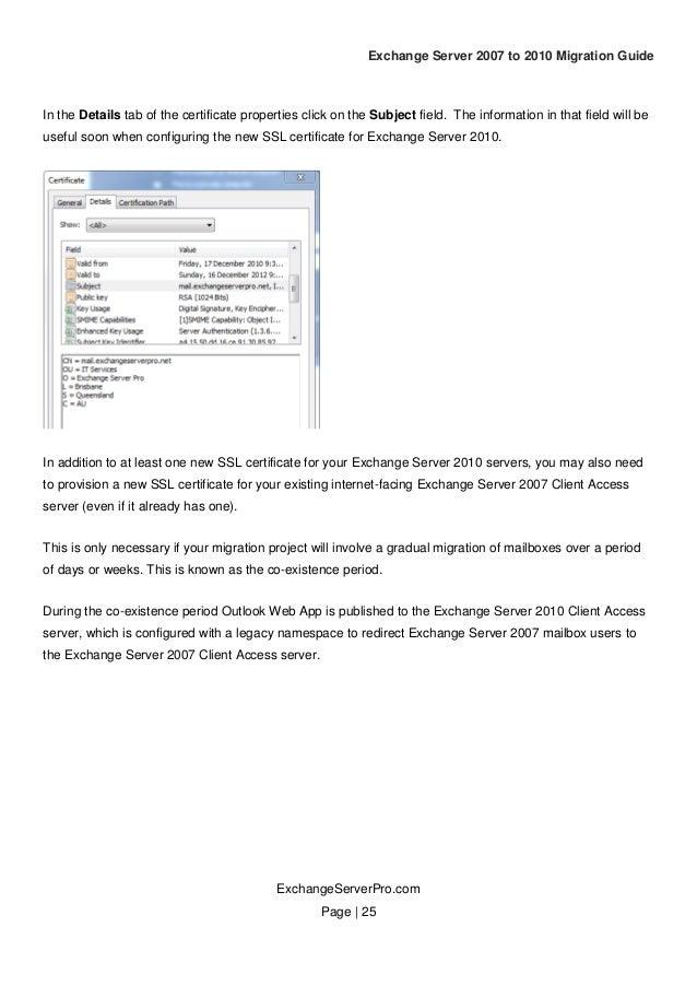 Exchange Server 2007 To 2010 Migration Guide V10 Planning Chapter