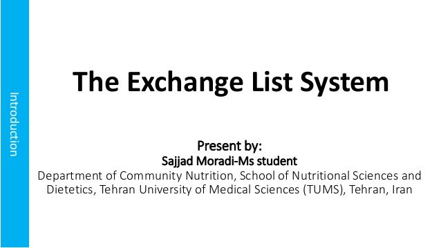 Introduction Present by: Sajjad Moradi-Ms student Department of Community Nutrition, School of Nutritional Sciences and Di...