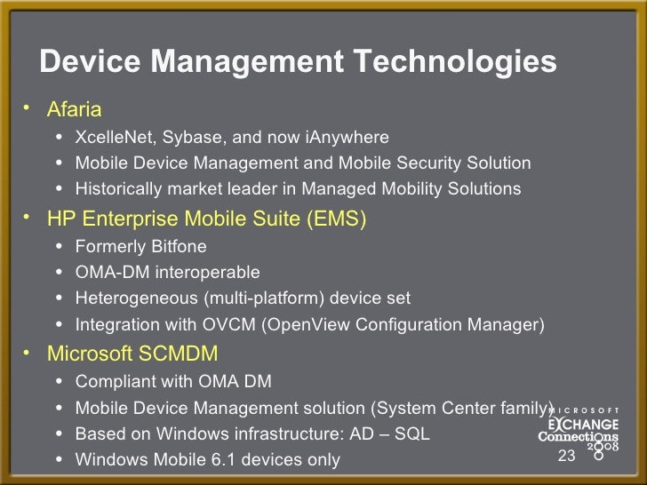 System Center Mobile Device Manager