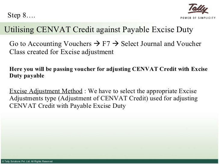 Accounting For Cenvat