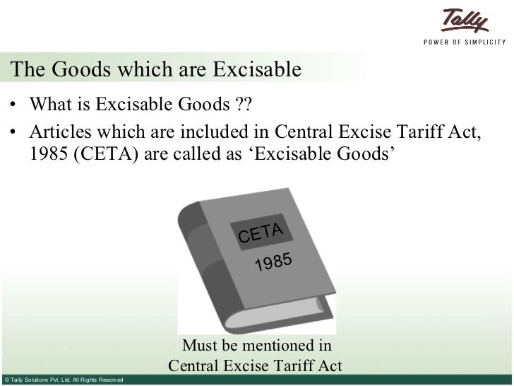 excise duty applicable in india