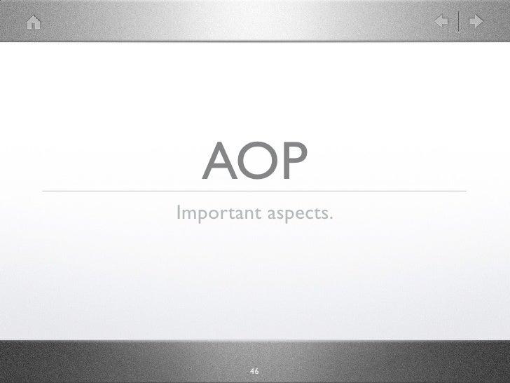 AOP Important aspects.             46