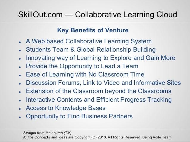 Collaborative Classroom Benefits : Exciting presentation skillout — collaborative