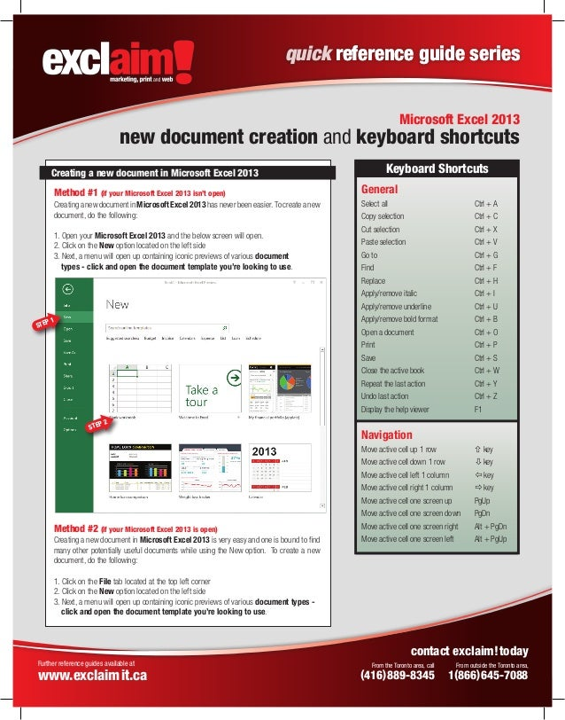 quick reference guide template free