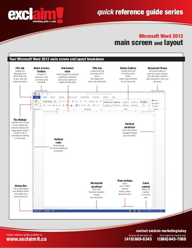 Reference Guide Template  Microsoft Word Reference Template