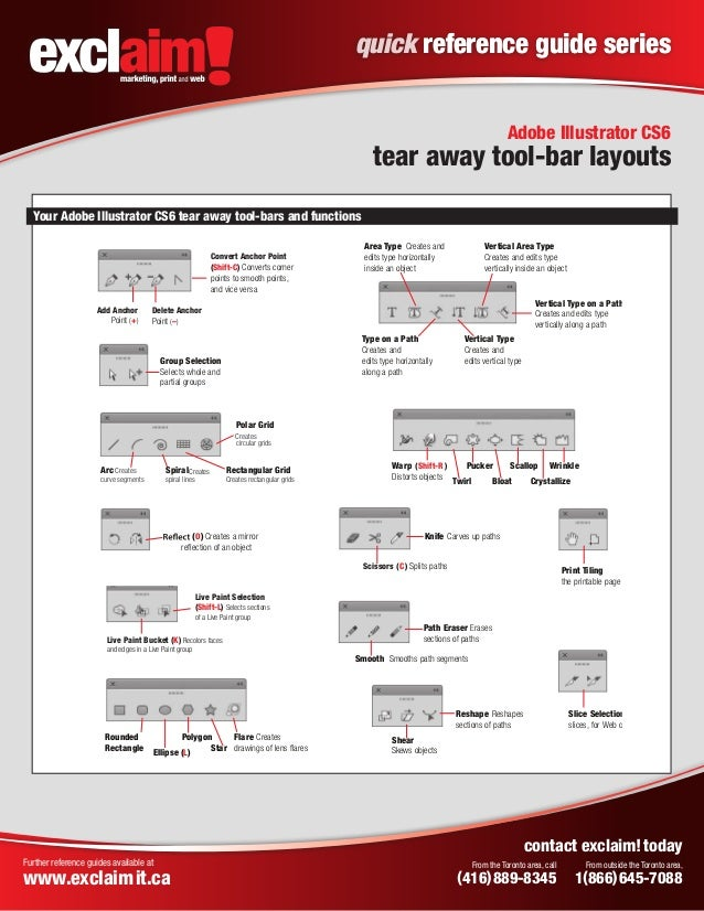 free adobe illustrator cs6 quick reference guide from exclaim rh slideshare net Adobe Illustrator Manual PDF Adobe Illustrator CS5 Manual