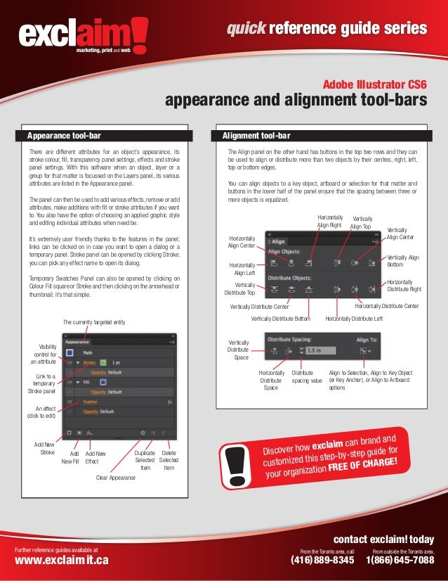 free adobe illustrator cs6 quick reference guide from exclaim rh slideshare net Adobe Illustrator CS5 Manual Adobe Illustrator Vector Graphics