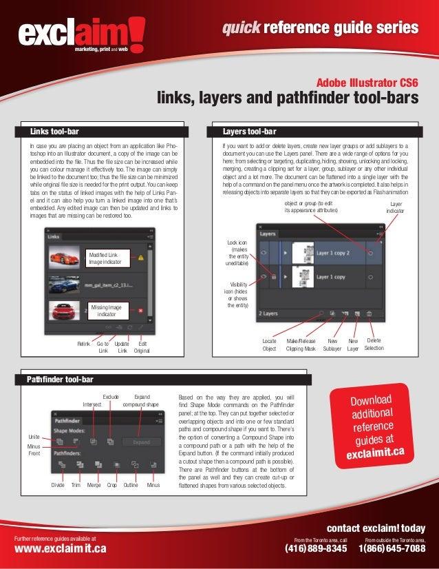 free adobe illustrator cs6 quick reference guide from exclaim rh slideshare net Adobe Illustrator Manual PDF Sublayer Adobe Illustrator