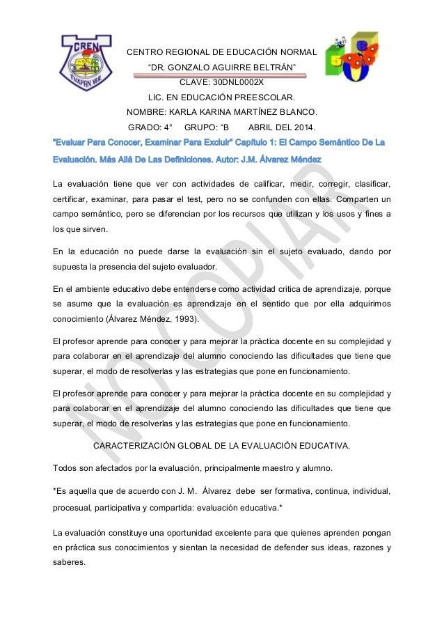 """CENTRO REGIONAL DE EDUCACIÓN NORMAL """"DR. GONZALO AGUIRRE BELTRÁN"""" CLAVE: 30DNL0002X LIC. EN EDUCACIÓN PREESCOLAR. NOMBRE: ..."""