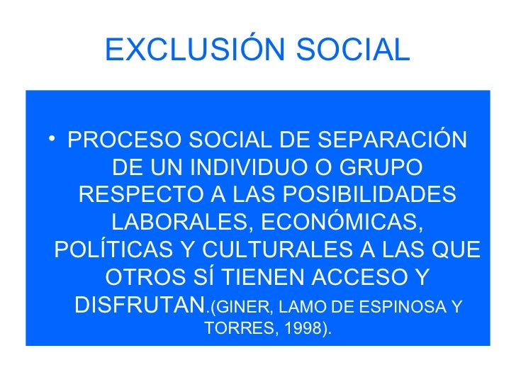 social divisions social exclusion and social Poverty and social exclusion can affect all age groups it is multi-faceted and combating it requires a multi-policy response  which advises the division on the .